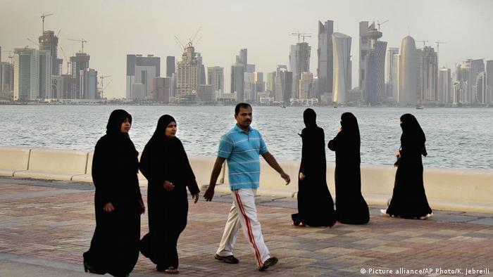 Katar Die neuen Hochhäuser der Innenstadt von Doha (Picture alliance/AP Photo/K. Jebreili)