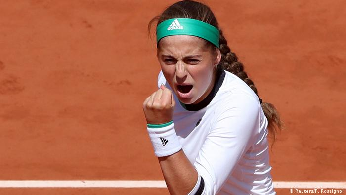 Frankreich French Open in Paris - Jelena Ostapenko