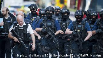 Armed police after the London Bridge attack in June