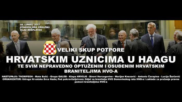 Flyer zum Konzert von Marko Perkovic Thompson in Mostar