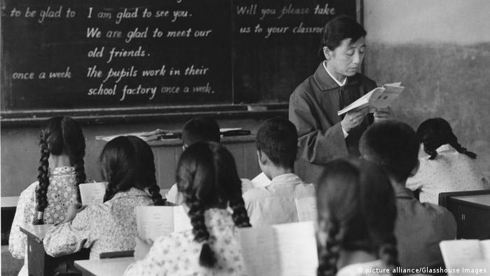 China Englisch Klasse Unterricht Schule (picture alliance/Glasshouse Images)