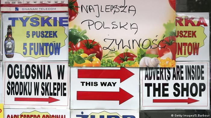 Польские магазины в Лондоне