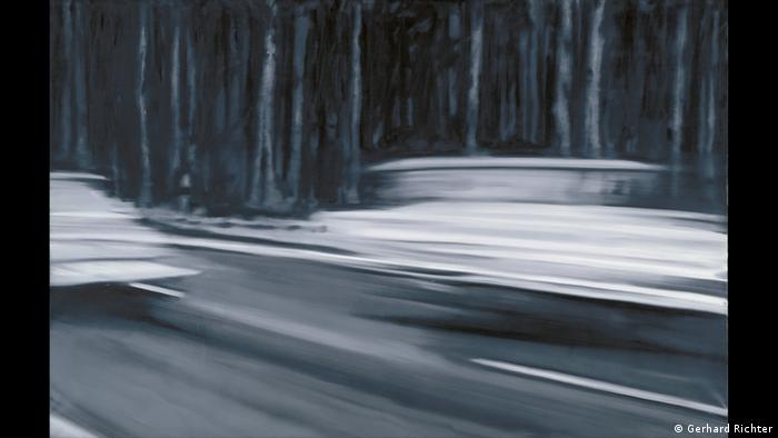 Gerhard Richter painting, Two Fiats (Gerhard Richter)