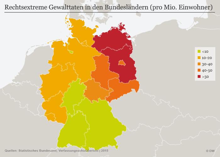Infografik Rechtsextremismus Gewalttaten Deutschland DEU