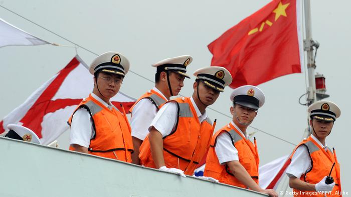 Chinesische Marine in Manila, Philippinen (Getty Images/AFP/T. Aljibe)