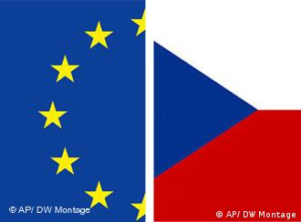Graphic of EU and Czech flags