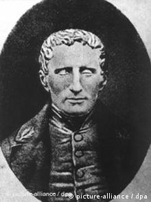 Louis Braille in einer zeitgenössischen Darstellung (Quelle: AP)