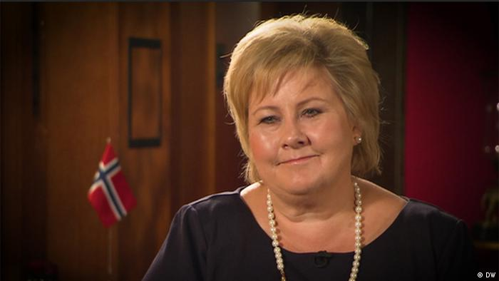 Erna Solberg in a DW interview with Zhana Nemtsova