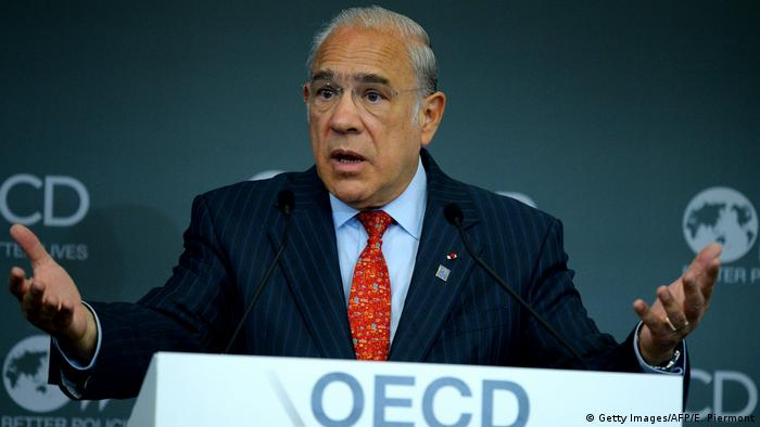 Frankreich OECD Treffen in Paris | Generalsekretär Angel Gurria (Getty Images/AFP/E. Piermont)