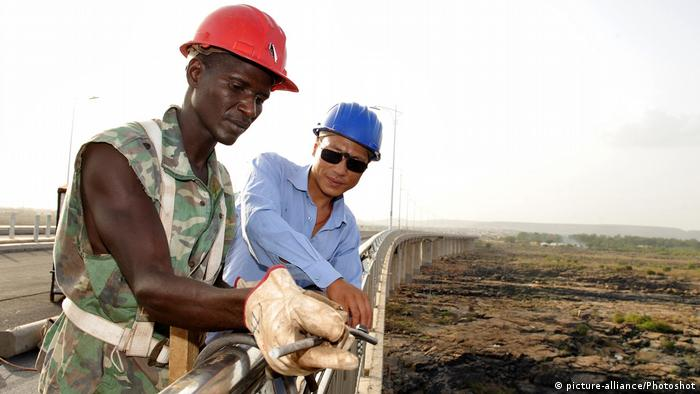 Chinese-funded bridge building project in Mali