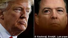 Donald Trump and James Comey (Reuters/J. Ernst/K. Lamarque)