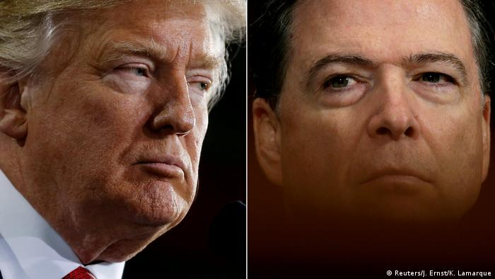 Bildkombo Donald Trump und James Comey