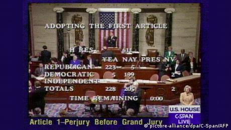 USA Washington Amtsenthebungsverfahren gegen Clinton beschlossen (picture-alliance/dpa/C-Span/AFP)