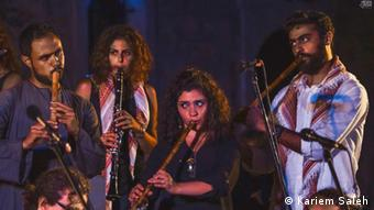 Musicians perform onstage at Ethno Cyprus 2016 music camp