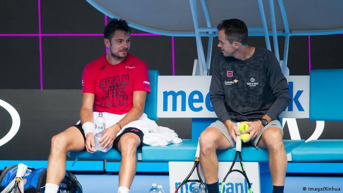 Stanislas Wawrinka and coach Magnus Norman