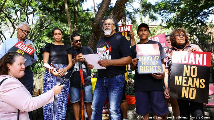 Adrian Burragubba and the Wangan and Jagalingou traditional owners launch their campaign