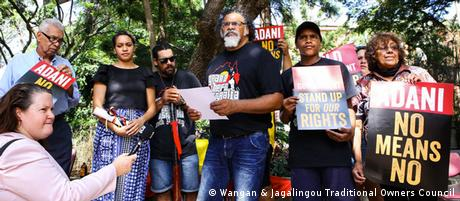 Adrian Burragubba and the Wangan and Jagalingou traditional owners launch their campaign (Wangan & Jagalingou Traditional Owners Council)