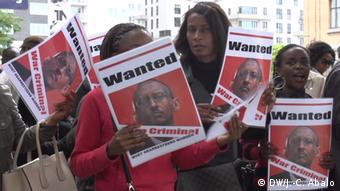 Brüssel, Protest gegen Besuch von Paul Kagamé, Präsident Ruanda