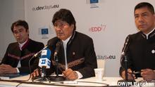 Evo Morales, Präsident Boliviens, während der European Development Days, Brüssel, 08.06.2017, Bild: Banchón