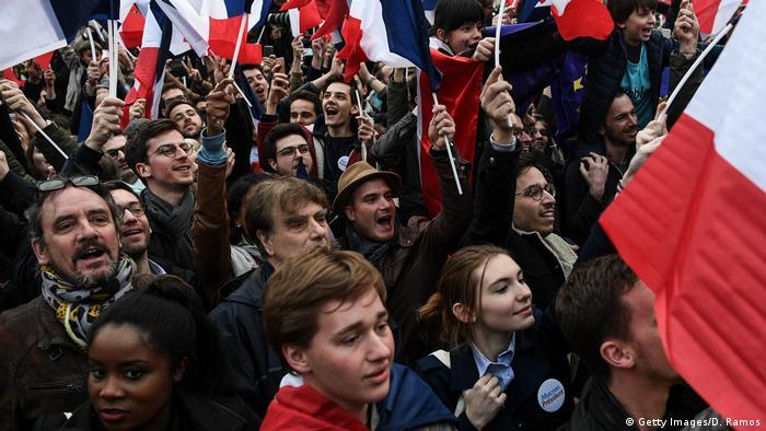 Emmanuel Macron Wahlkampf in Paris En Marche!