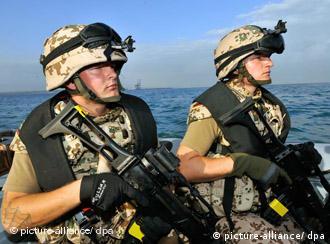 German marines serving with the EU's Atalanta anti-piracy mission off Somalia
