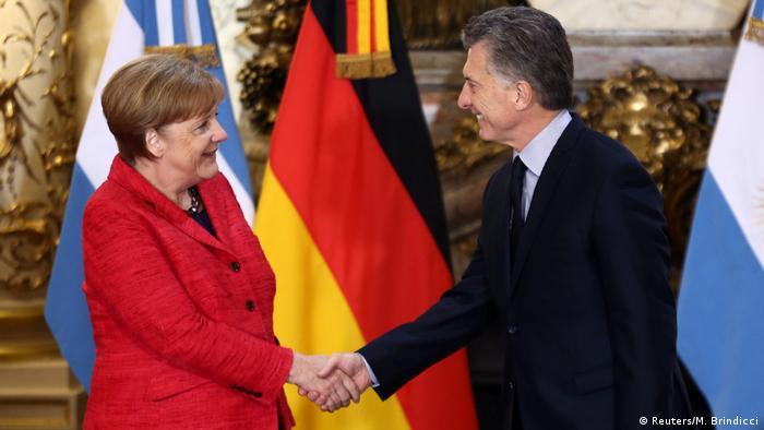 Argentinien Bundeskanzlerin Angela Merkel & Präsident Mauricio Macri (Reuters/M. Brindicci)