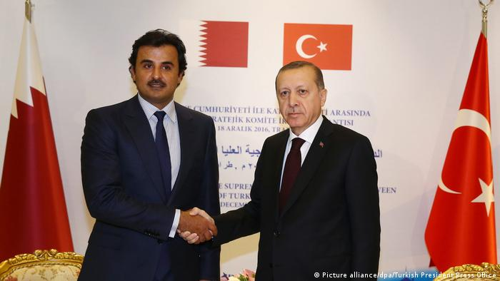 Emir Tamim von Qatar und Erdogan