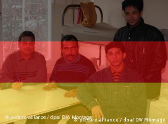 Three young Iraqi refugees in Munich