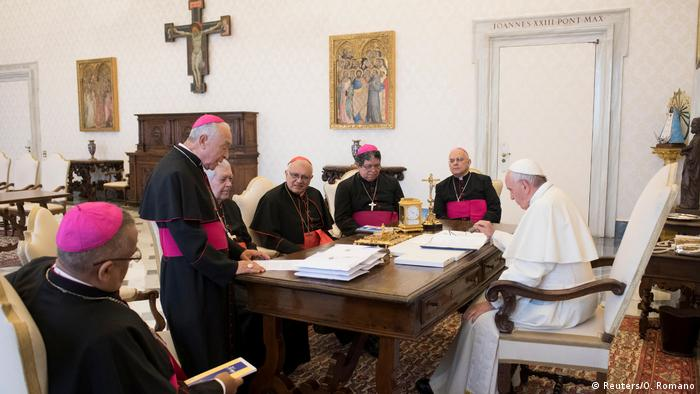 Reunión del Papa Francisco con obispos venezolanos. (Archivo).