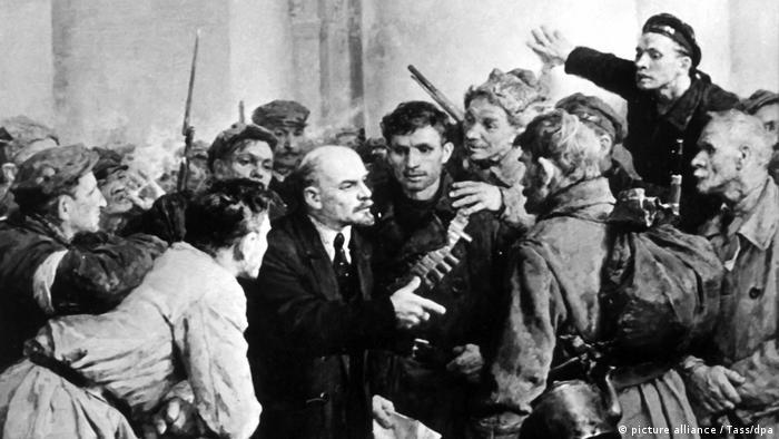 Schweiz 100 Jahre Lenins Zugfahrt (picture alliance / Tass/dpa)