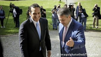 Wolfenbüttel Bundesaußenminister Sigmar Gabriel trifft den katarischen Außenminister Scheich Mohammed Al Thani (Imago/photothek/T. Koehler)