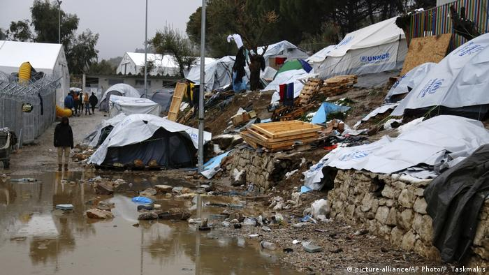 Camp Moria in Lesbos