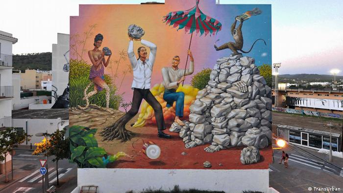 Streetart auf Ibiza von Interesni Kazki aus der Urkaine