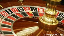 SOCHI, RUSSIA - JANUARY 5, 2017: A roulette at the first casino in the Krasnaya Polyana gambling zone, at the Gorky Gorod year-round ski resort. The Sochi Casino and Resort complex includes game rooms, two restaurants, a bar, a banquet hall, a convention hall, and shops. Alexander Ryumin/TASS PUBLICATIONxINxGERxAUTxONLY TS03D51B Sochi Russia January 5 2017 a Roulette AT The First Casino in The Krasnaya Polyana Gambling Zone AT The Gorky Gorod Year Round Ski Resort The Sochi Casino and Resort Complex includes Game Rooms Two Restaurants a Bar a Banquet Hall a Convention Hall and Shops Alexander Ryumin TASS PUBLICATIONxINxGERxAUTxONLY TS03D51B