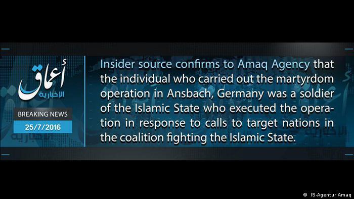 Amaq breaking news ( IS-Agentur Amaq)