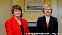 Arlene Foster, Parteichefin der nordirischen DUP und Theresa May