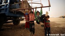 Syrien Binnenflüchtlinge - Kinder aus Rakka