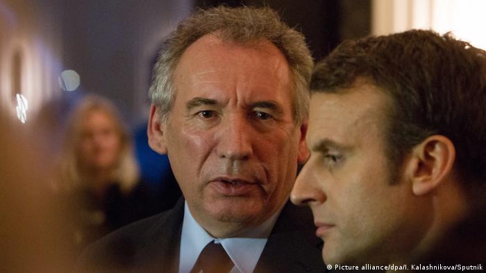 Emmanuel Macron und Francois Bayrou (Picture alliance/dpa/I. Kalashnikova/Sputnik)