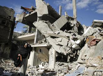 Zerstörte Häuser in Gaza, AP