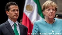 Mexiko Enrique Pena Nieto und Bundeskanzlerin Angela Merkel in Mexiko-Stadt