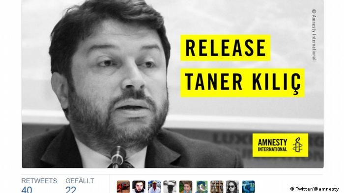 Twitter Amnesty International - Taner Kilic