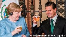 Mexiko Bundeskanzlerin Angela Merkel und Enrique Pena Nieto in Mexiko-Stadt
