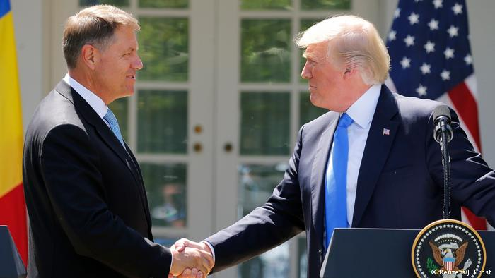 Donald Trump si Klaus Iohannis, Washington (Reuters/J. Ernst)