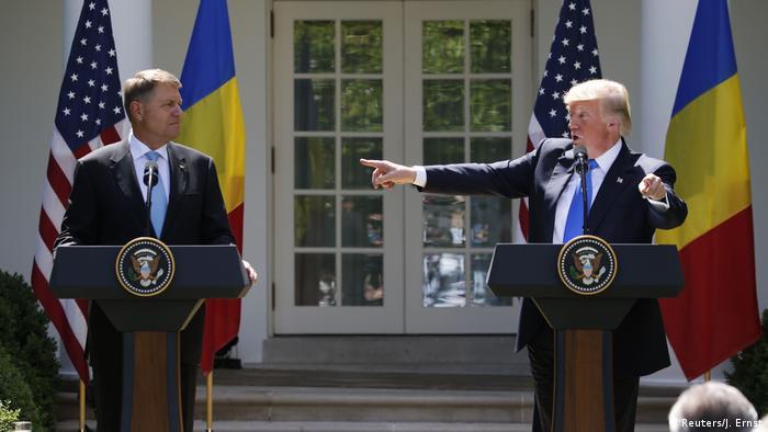 Donald Trump și Klaus Iohannis la Washington, 9 iunie 2017