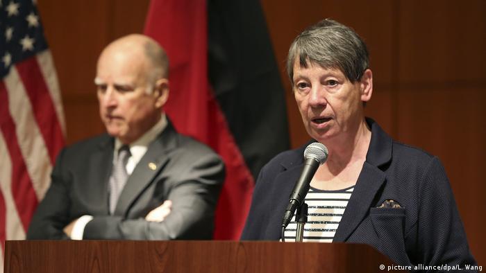 USA Barbara Hendricks und Jerry Brown in Kalifornien