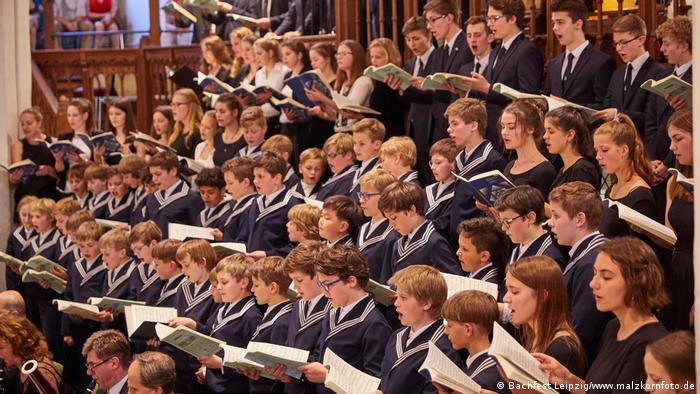 A choir of children
