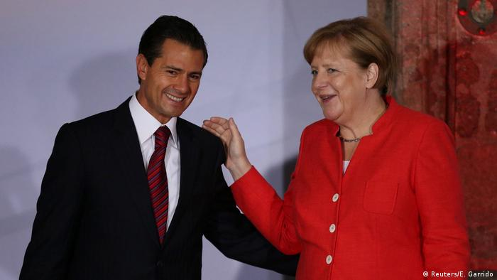 Kanzlerin Angela Merkel und Mexikos Präsident Enrique Pena Nieto (Reuters/E. Garrido)