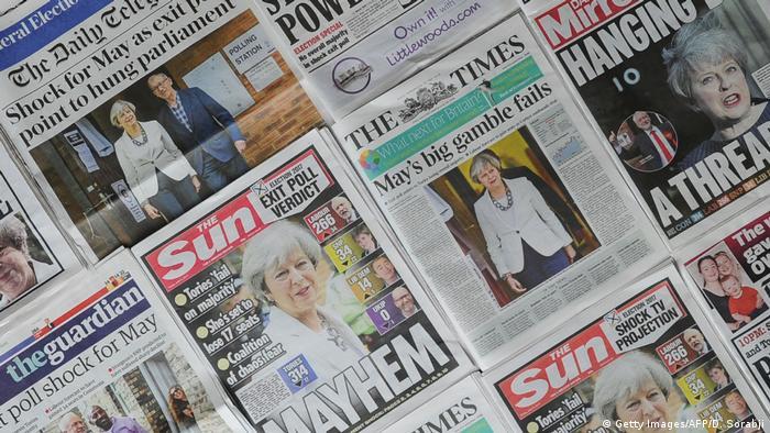 UK | Britische Presse nach Neuwahl in Großbritannien (Getty Images/AFP/D. Sorabji)