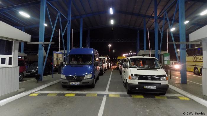 Ukraine Polen Grenzübergang (DW/V. Prykhid)