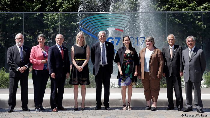 Italien G7-Umweltminister beraten über Klima-Wende der USA   Gruppenfoto
